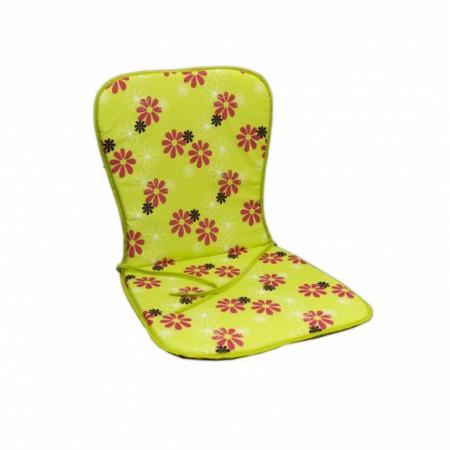 Podsedák na nábytek, zelený s květy