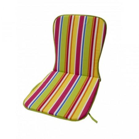 Polstr na nízké křeslo / židli, barevné pruhy