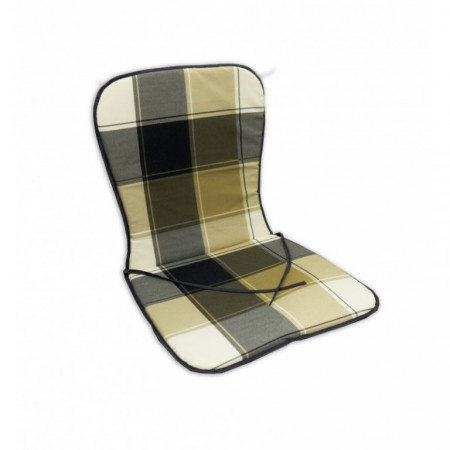 Polstr na nízké křeslo / židli, kostkovaný