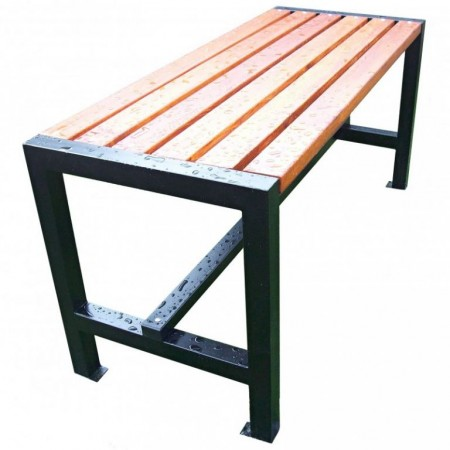 Parkový stůl s ocelovým rámem, pro přišroubování