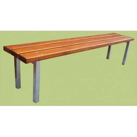 Venkovní lavička dřevo / kov