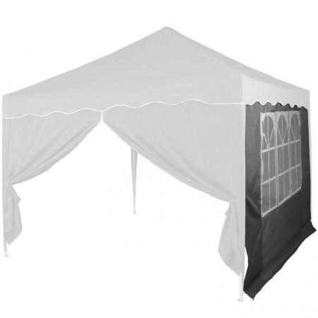Boční stěna k zahradním párty stanům, s oknem, antracit