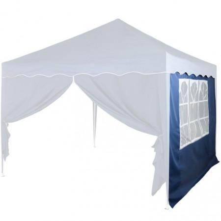 Boční stěna k zahradním párty stanům, s oknem, modrá