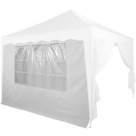 Boční stěna k zahradním párty stanům, s oknem, bílá