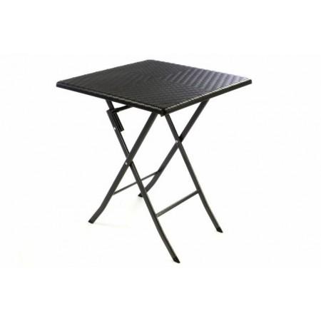Skládací balkonový stolek čtvercový, ratanový vzhled