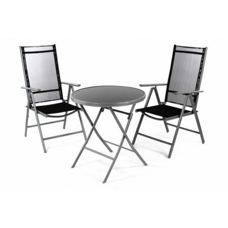 Kovový balkonový set, skládací sůl + 2 skládací židle