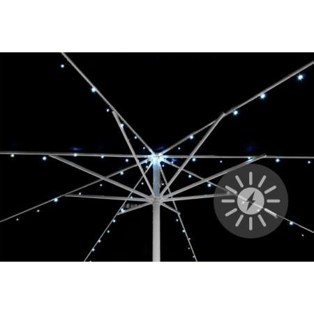 Dekorativní LED osvětlení pod slunečník, solární, blikající funkce