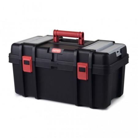 Plastový kufr na nářadí a spojovací materiál, uzamykatelné víko