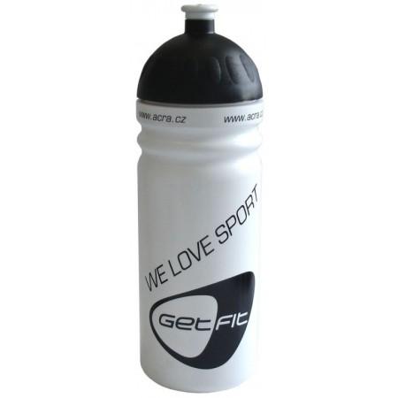 Plastová lahev na kolo 0,7 l, bílá / černá