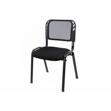 Stohovatelná židle s ocelovým rámem, černá
