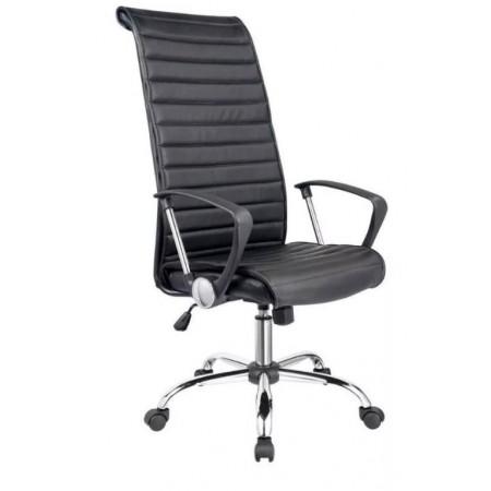 Elegantní kancelářská židle na kolečkách, eko kůže, černá