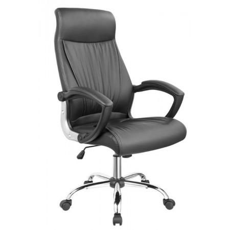 Otočná židle na kolečkách, anatomické polstrování, černá