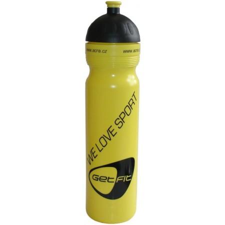 Plastová sportovní lahev na pití 1 l, žlutá