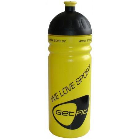 Plastová sportovní lahev na pití 0,7 l, žlutá