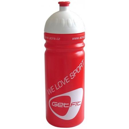 Plastová sportovní lahev na pití 0,7 l, červená
