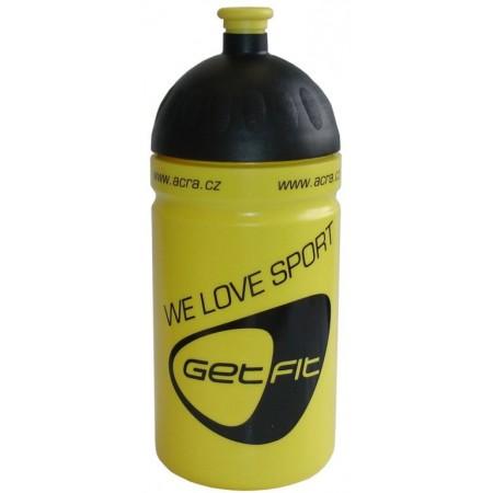 Plastová sportovní lahev na pití 0,5 l, žlutá