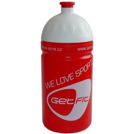 Plastová sportovní lahev na pití 0,5 l, červená