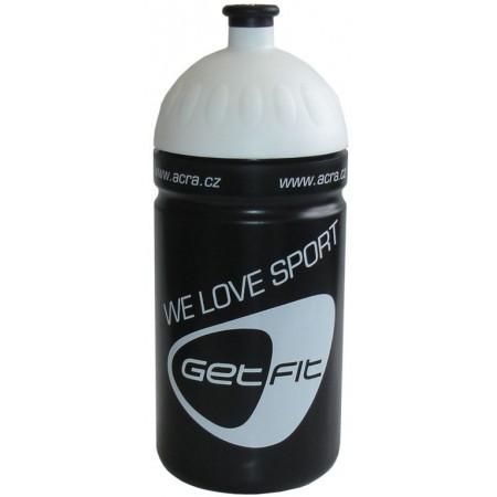 Plastová sportovní lahev na pití 0,5 l, černá