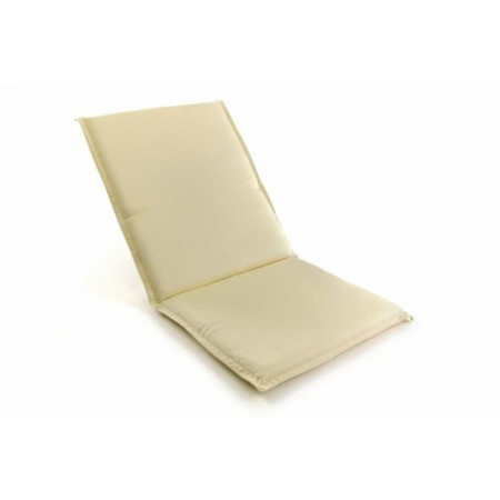 Polstr na zahradní židle, sundavací se zipem, krémový