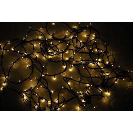 Vánoční LED řetěz venkovní / vnitřní, teple bílá, 19 m