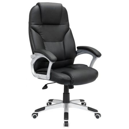 Luxusní kancelářské křeslo na kolečkách, vysoké polstrování, černá