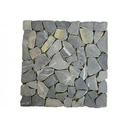 Obklad / dlažba, mozaika z přírodního kamene šedá, 1 m2