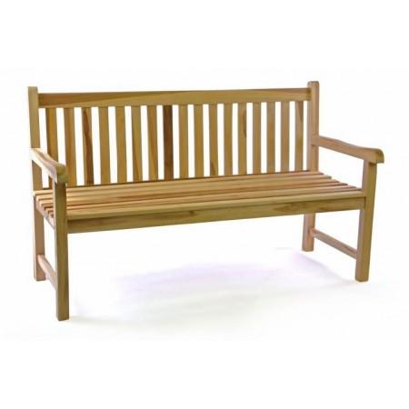 Zahradní dřevěná lavice z masivu, týkové dřevo, 150 cm