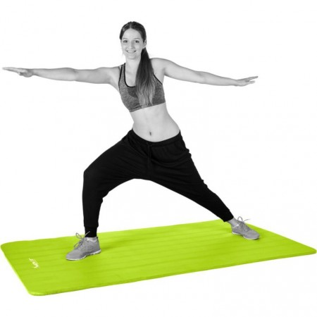 Pěnová podložka na gymnastiku 190x60x1,5 cm, zelená