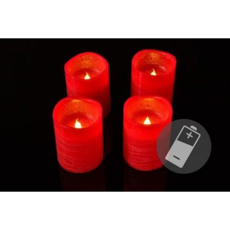 3 ks umělá svíčka se svítící LED diodou, červená