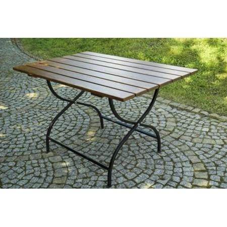 Skládací zahradní stolek kov / dřevo