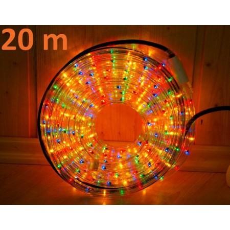 Barevný venkovní světelný kabel, 20 m