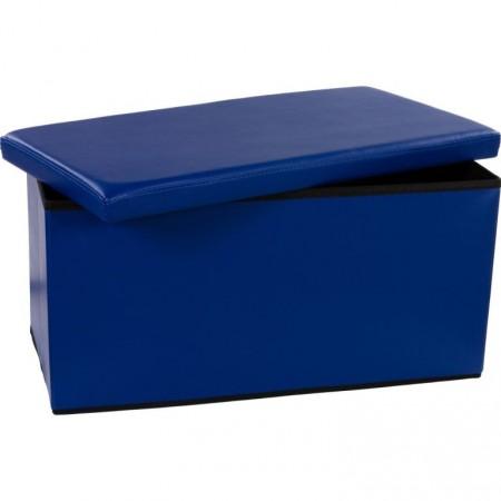 Složitelná lavice s měkkým polstrováním, modrá