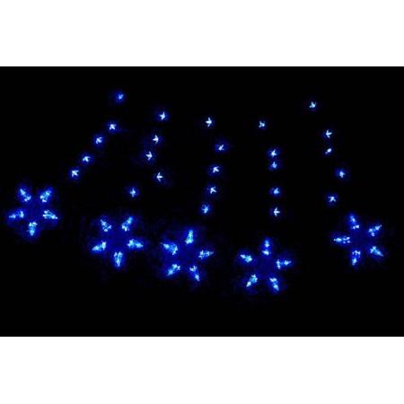 Vánoční osvětlení do bytu - hvězdy s LED diodami, modré