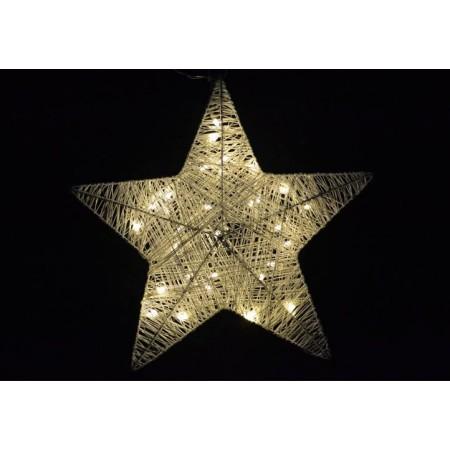 Vánoční dekorace do bytu - svítící hvězda na baterie, 35 cm