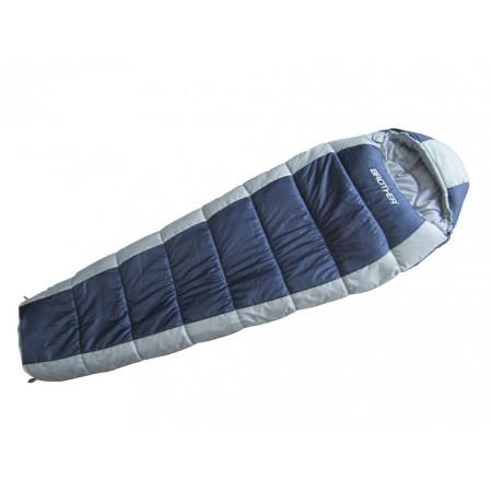 Mumiový spací pytel s bavlněnou vložkou, do - 12 stupňů C
