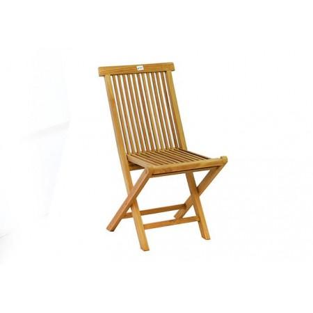 Zahradní dřevěná židle bez područek, tvrdé teakové dřevo