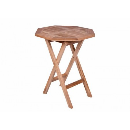 Menší 8 - úhelníkový stolek na zahradu / terasu, týkové dřevo