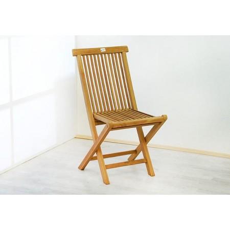2 ks skládací dřevěná židle bez područek, tvrdé týkové dřevo