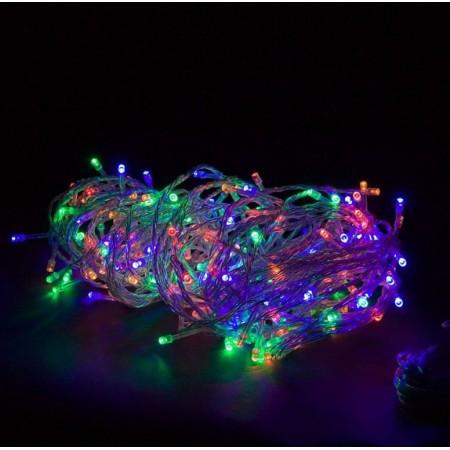Vánoční řetěz na stromeček venkovní / vnitřní, barevný, 10 m