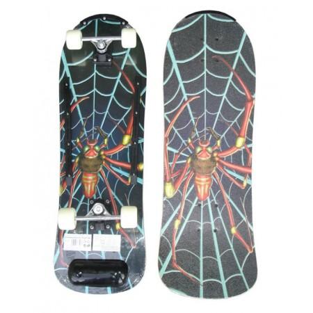 Dětský skateboard s dřevěnou deskou - Pavouk
