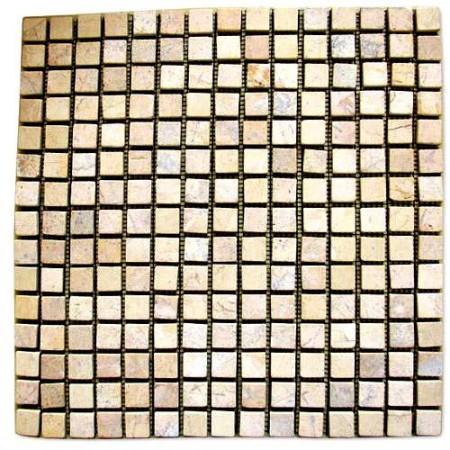 Obklad / dlažba - mozaika z leštěného mramoru, krémová,1 ks