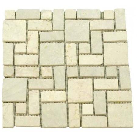 Obklad / dlažba - mozaika z leštěného mramoru, béžová, 1 ks