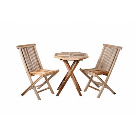 Sestava balkonového nábytku 3 ks, tvrdé týkové dřevo