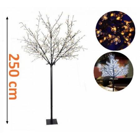 Velký umělý svítící strom - dekorace na zahradu / do bytu, 250 cm