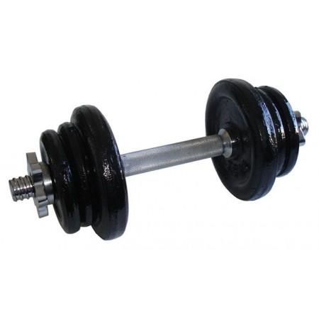 Jednoruční fitness činka s kovovými závažími, 11 kg