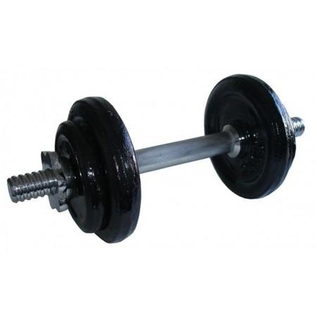 Jednoruční fitness činka s kovovými závažími, 9 kg