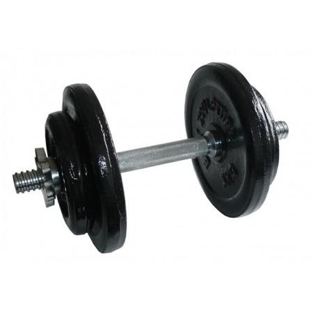 Jednoruční fitness činka s kovovými závažími, 17 kg