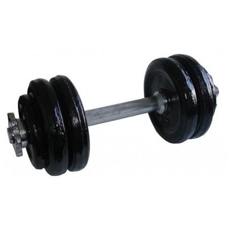 Jednoruční fitness činka s kovovými závažími, 14 kg