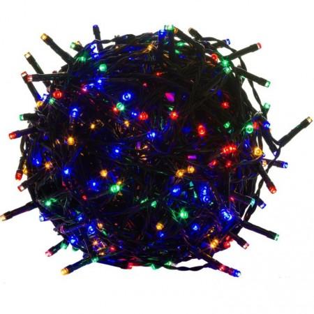 LED řetěz na vánoční stromeček venkovní / vnitřní, barevný, 10 m