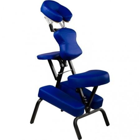 Profesionální masážní židle skládací, nosnost 130 kg, modrá